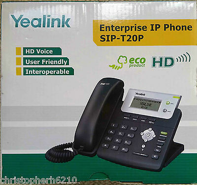 Yealink T20P Enterprise HD VoIP IP Telephone Phone Handset SIP-T20P with UK PSU