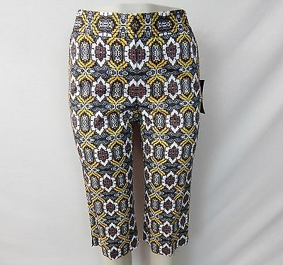 ETCETERA PRINT CAPRI CROPPED PANTS BERMUDA WALKING SHORTS sizes 4 6 NEW $145
