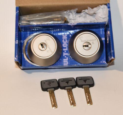 Mul-T-Lock Hercular Double MT-5 High-Security  Dead-Bolt Lock 3 keys NEW! READ!
