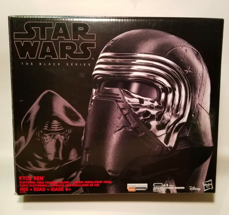 2015 Star Wars The Black Series Kylo Ren Electronic Voice Changer Helmet