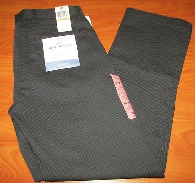 NEW DOCKERS MENS BEST PRESSED SLIM FIT BLACK PINSTRIPE PANTS SZ 28X30 (Best Mens Slim Fit Chinos)