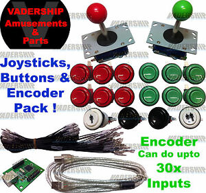 2x JOYSTICKS & 16x BUTTONS & Xin-mo USB Encoder - Pack Arcade / Mame / Multicade