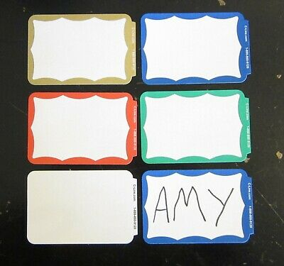 100 Name Tags Labels Border Badges Stickers Peel Stick Adhesive Id Christmas Tag