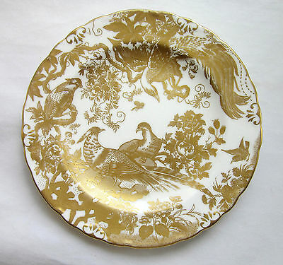 """Vtg ROYAL CROWN DERBY """"GOLD AVES"""" BREAD & BUTTER PLATE c1961 ENGLAND 1st Quality"""
