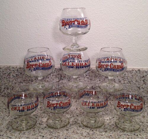 SIERRA NEVADA Brewery BEER CAMP 4 ounce TASTING / SAMPLER GLASSES Set of 8