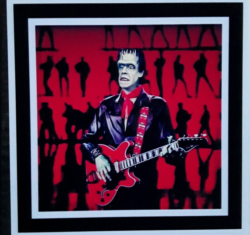 """The Munsters ☆ MAGNET 3.5"""" x 3.5""""  HERMAN cell block Rock"""