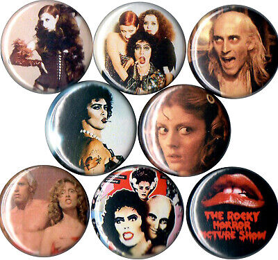 Rocky Horror Picture Show pins buttons Dr Fank N Furter Riff Raff Janet Magenta (Photo Button Pins)