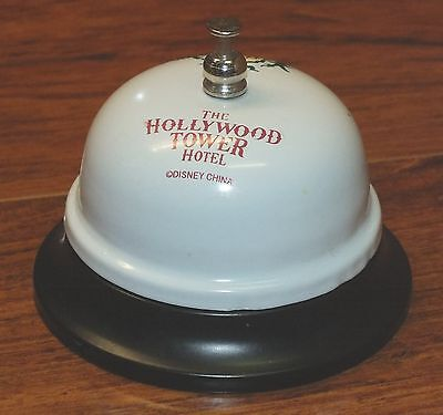 Walt Disney Twilight Zone The Hollywood Tower Hotel Metal Front Desk Bell *READ*