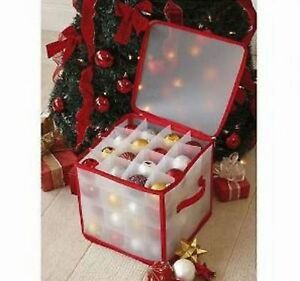 Christmas Tree Bauble Decorations  Storage Box Holds up to 64 Baubles NEW