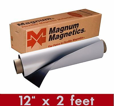 Magnum Mag 12 Width X 2 Ft Roll 30 Mil. Blank Magnetic Sign Sheet Cars Crafts
