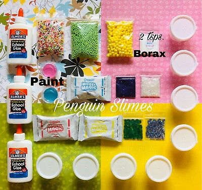 DIY SLIME KIT SLIME SUPPLIES Make your own Fluffy, Butter, Glitter - Slime Kit