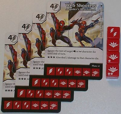 4X WEB SHOOTERS: A SPIDER'S BEST FRIEND 72 The Amazing Spider-Man Dice (Best Spiderman Web Shooter)