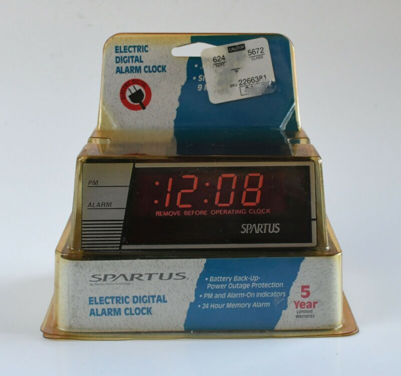 Spartus Zenith-Woodgrain 120861 Electric LED Digital Alarm Clock NEW OLD STOCK