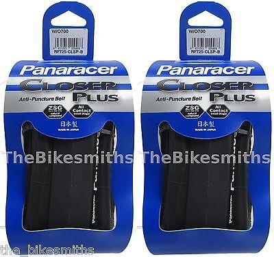 2Pak Panaracer Closer Plus 700 X 23 Flatguard Black Folding Road Bike Race Tires