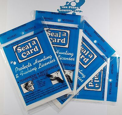 Plastic Self-adhesive Lamination Sheets Seal A Card Seal-a-card 4 Packages