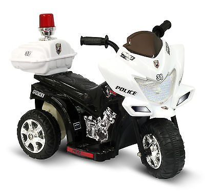 Ride On Toys Police Patrol Bike Battery Powered Electric Cars for Kids to Ride