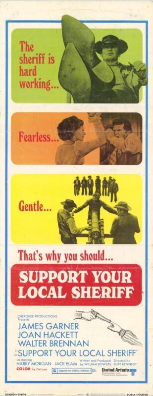SUPPORT YOUR LOCAL SHERIFF Movie POSTER 14x36 Insert James Garner Joan Hackett