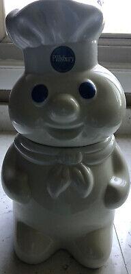 Vintage 1988 LAUGHING/TALKING Pillsbury Doughboy Ceramic Cookie Jar Collectors