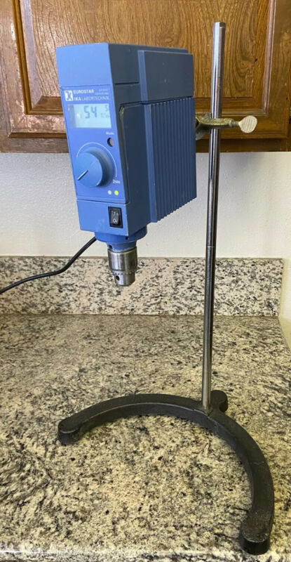 IKA Eurostar EURO ST PCVS1 Overhead Mixer / Stirrer with Stand and Clamp