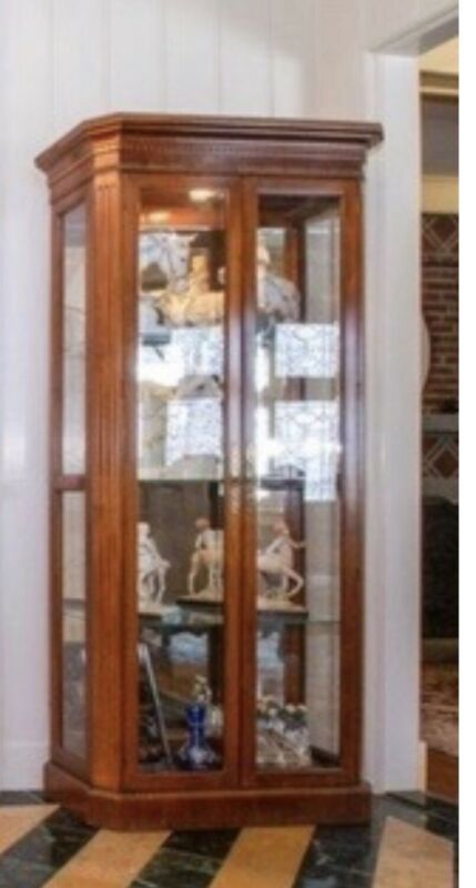 Pair Of henredon lighted display cabinets