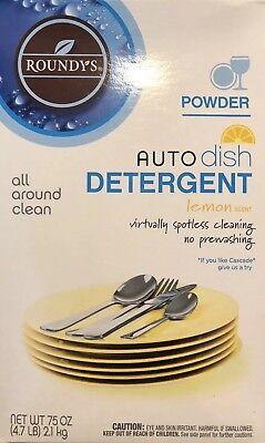 New Roundys Auto Dish Detergent Powder Lemon Scent 4.7 lbs Dishwasher