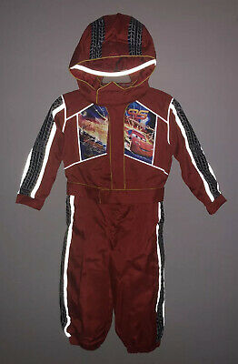 Lightning Mcqueen Costume For Boys (Boys Disney Lightning McQueen Race Car Driver Jumpsuit Costume Hat XS XSmall)