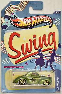 HOT WHEELS JUKE BOX SWING '41 WILLYS #5/32 GREEN