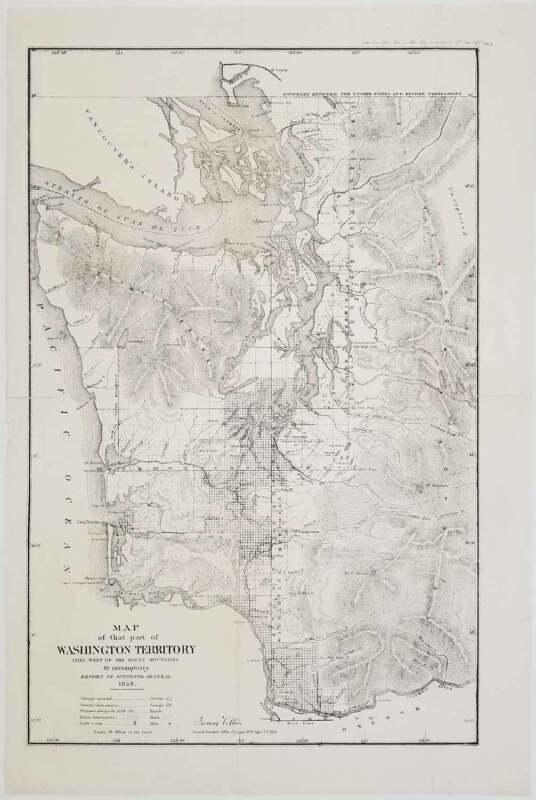 WASHINGTON TERRITORY 1858 / Map of that Part of Washington Territory Lying