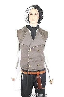 Sweeney Todd FULL COSTUME SET Wig Shirt Vest Belt Holster Halloween props](Sweeney Todd Costumes Halloween)