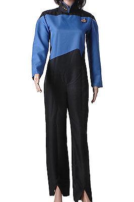 Star Trek TNG The Next Generation Blue Jumpsuit Halloween Cosplay Costume  (Star Trek Tng Halloween Costumes)