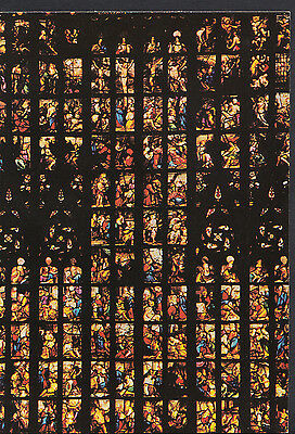 Religion Postcard - Stained Glass Window, Milano - Story From New Testament LE33