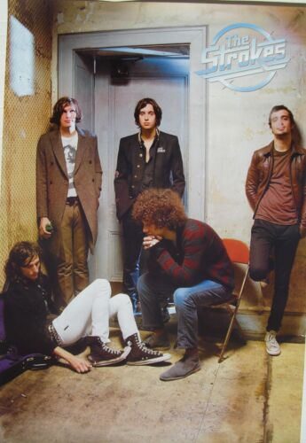 """THE STROKES """"GROUP BY DOORWAY"""" POSTER FROM ASIA - Garage Rock/Post-Punk Revival"""