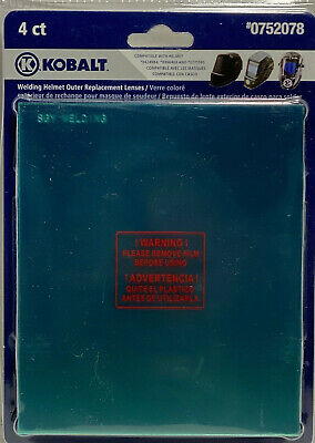 New Kobalt Welding Helmet Clear Outer Replacement Lenses 4pk 0752078 G1