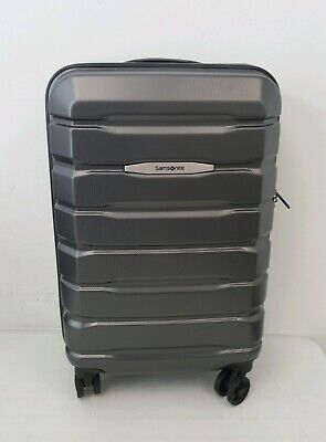"Samsonite Tech 2.0 Polycarbonate Hard Case 22"" Carry On Spinner Luggage Grey"