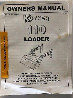 Koyker 110 Operators Manual 654998