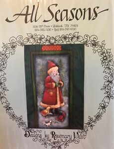 Santa In The Forest Painting Packet by Rosemary West (All Seasons)