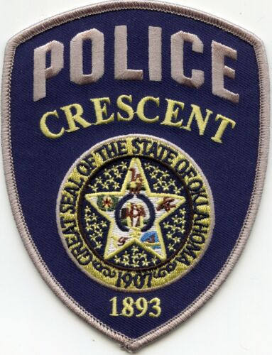 CRESCENT OKLAHOMA OK POLICE PATCH