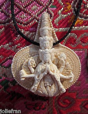 BEAUTIFULLY DETAILED 1000 ARM CHENREZIG AVALOKITESHVARA TIBETAN BUDDHIST PENDANT