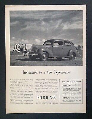 1939 Antique Automobile Magazine Ad ~ Vintage Ford