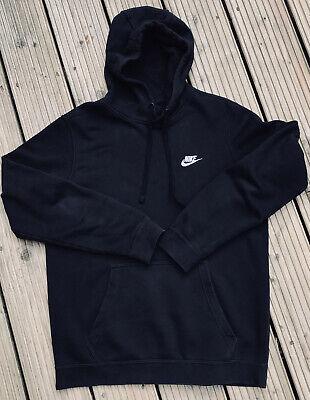 Nike Hoodie Top Jumper Size Medium Black Long Sleeved