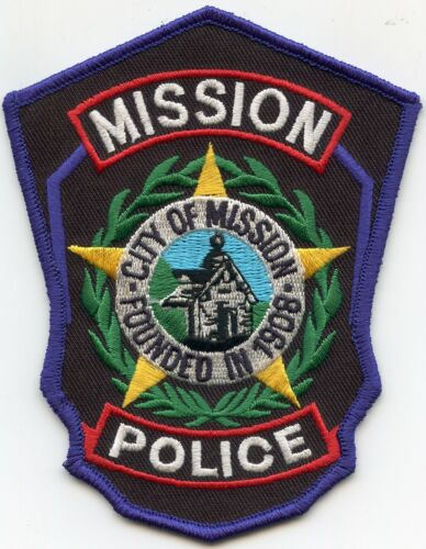 MISSION TEXAS TX POLICE PATCH