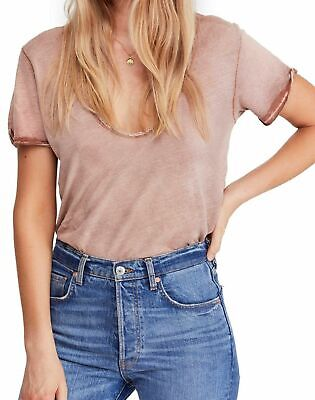 Free People | Saturday Crochet Trim T-Shirt | Tan | XS