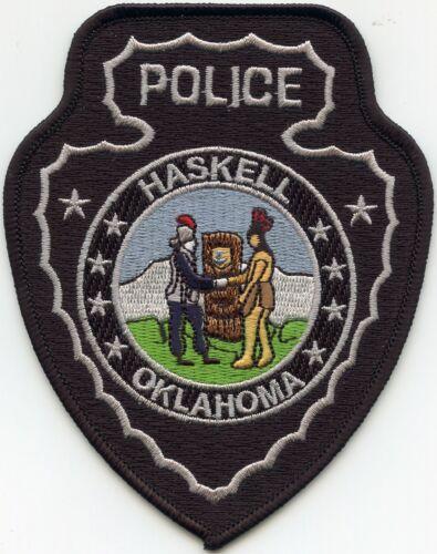 HASKELL OKLAHOMA OK Indian Arrowhead POLICE PATCH