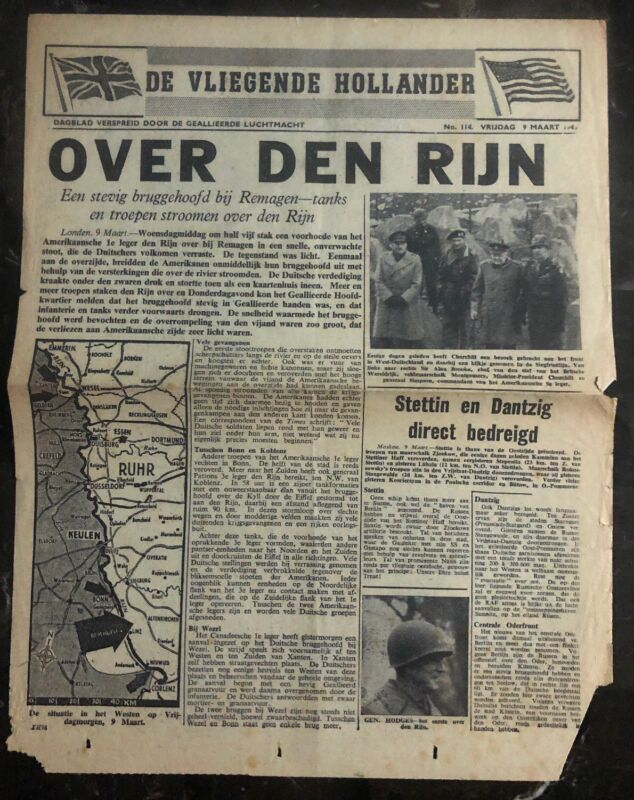 Original Great Britain Dropped On Holland WW2 RAF Flying Dutchman Newspaper B