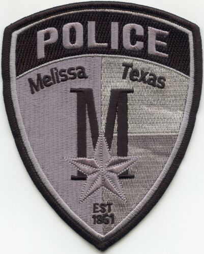 MELISSA TEXAS TX subdued POLICE PATCH