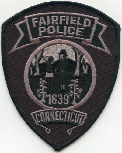 FAIRFIELD CONNECTICUT CT subdued POLICE PATCH