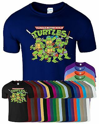 Ninja T (Teenage Mutant Ninja Turtles Mens T-Shirt TMNT Retro Classic Funny Top T Shirt)