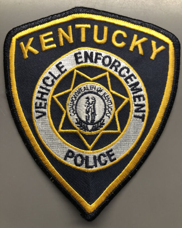 Kentucky Vehicle Enforcement Police Patch ~ White Circle and Star