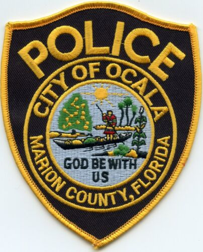OCALA Marion County FLORIDA FL God Be With Us POLICE PATCH