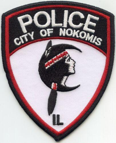 NOKOMIS ILLINOIS IL indian POLICE PATCH